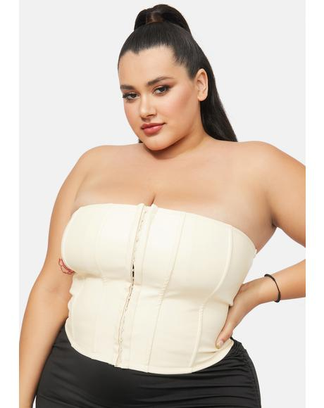 You Take The Lead Faux Leather Corset Top