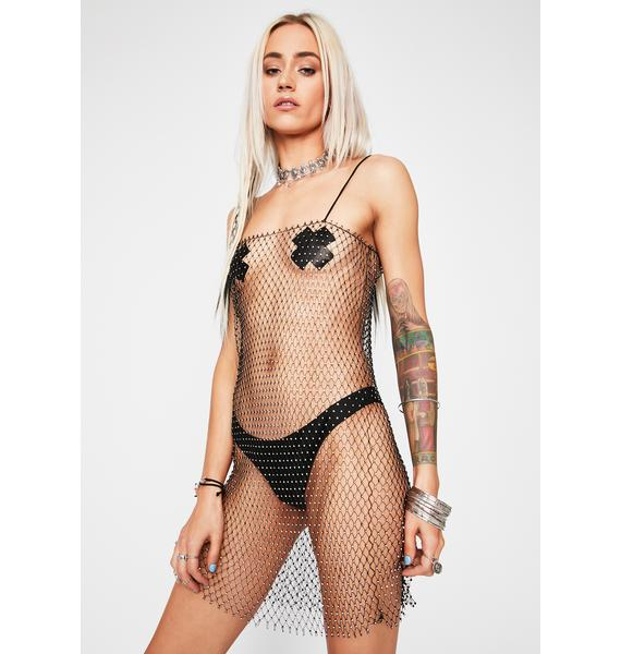For My Followers Fishnet Dress