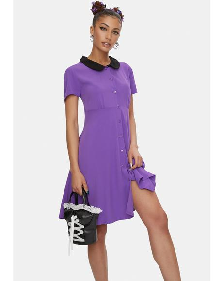 Purple Stop It Mini Dress