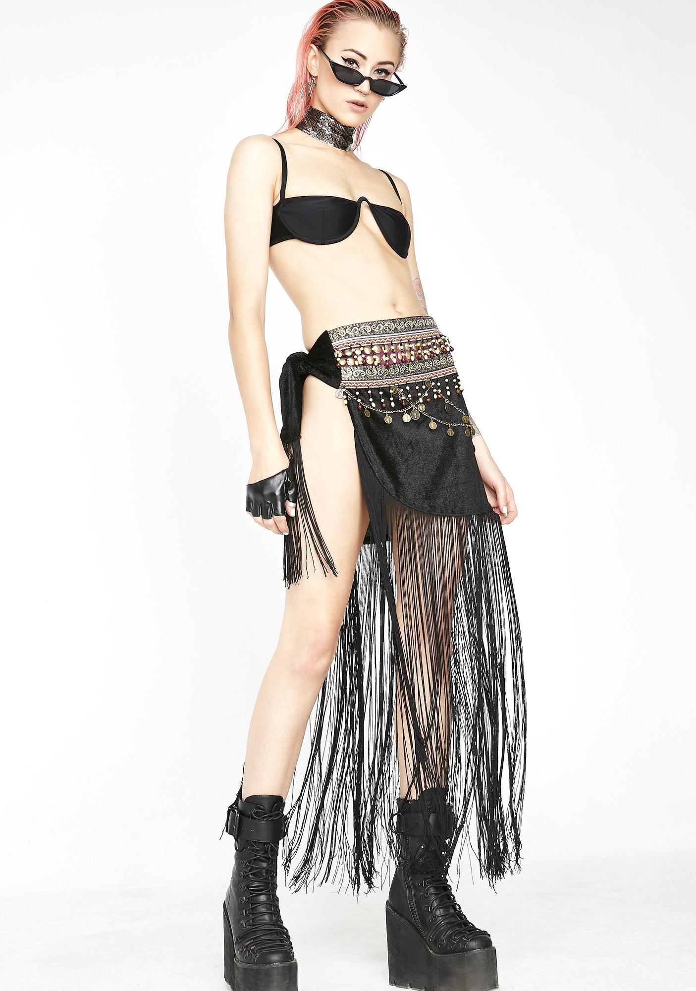 Gypsy Queen Fringe Skirt