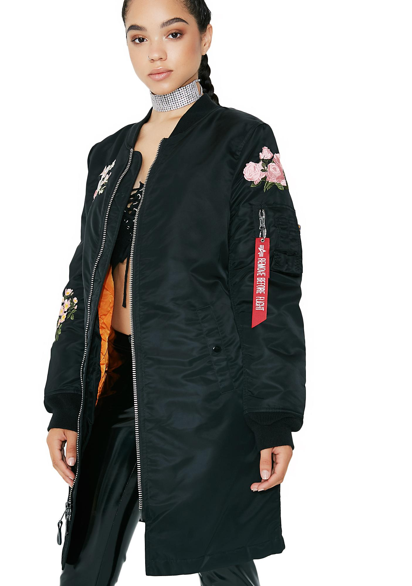 Alpha Industries MA-1 Blossom Souvenir Illusion Long Coat