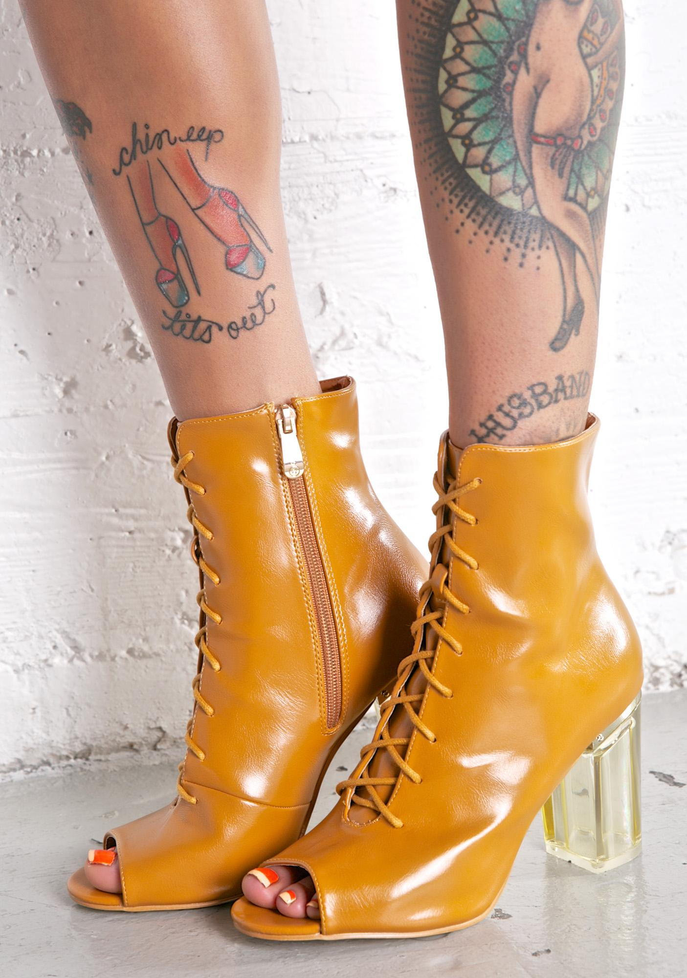 Caramel Jupiter Lace-Up Boots