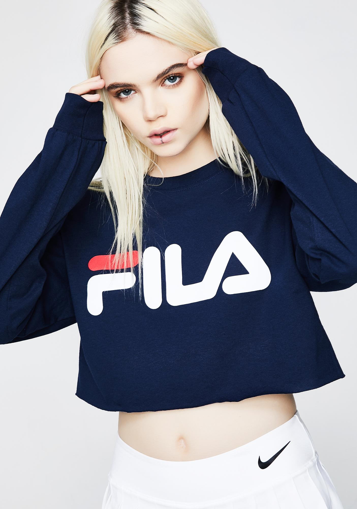 Fila Colette Long Sleeve Crop Tee
