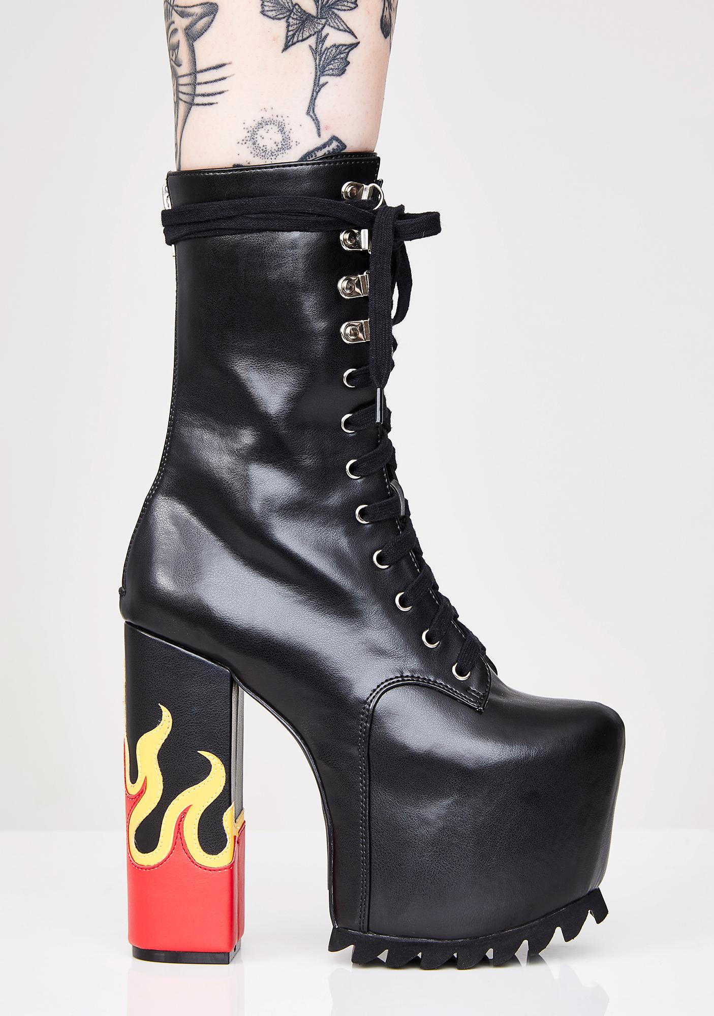 Current Mood Up In Flames Nola Boot