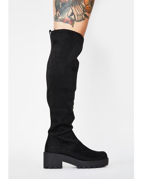 Passport Knee High Boots