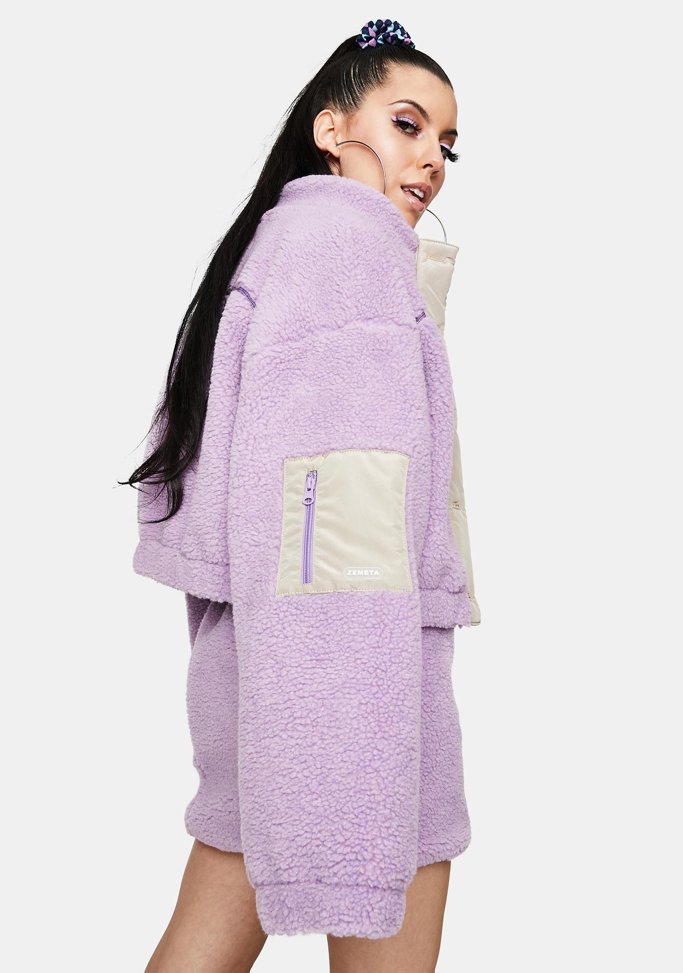 ZEMETA Yummy Sherpa Fleece Jacket