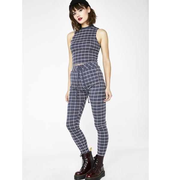 Wildfox Couture Simple Plaid Demi Leggings