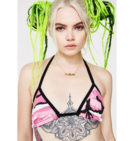 Plugged NYC Camo Bathing Suit Top