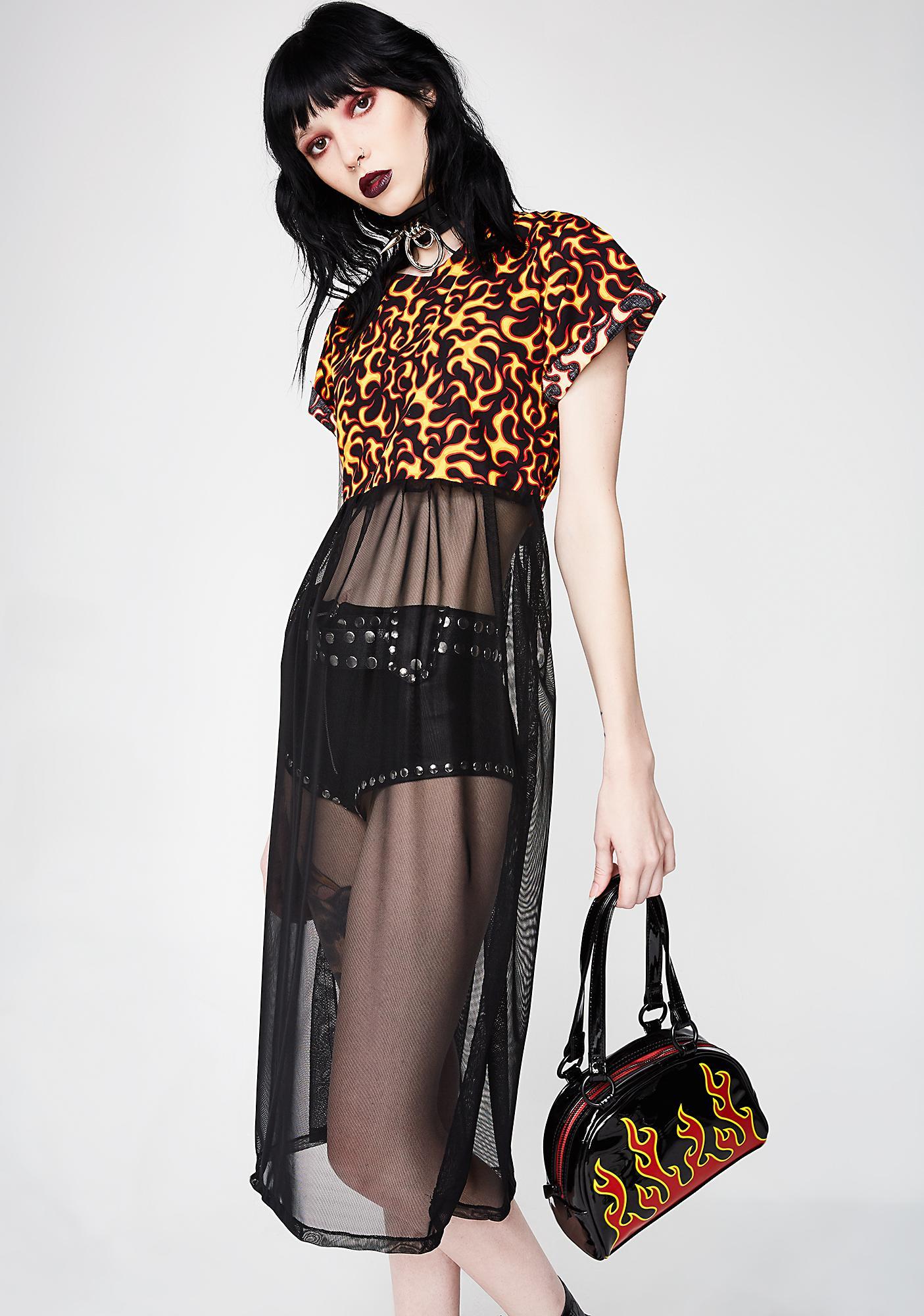Firebreather Sheer Dress