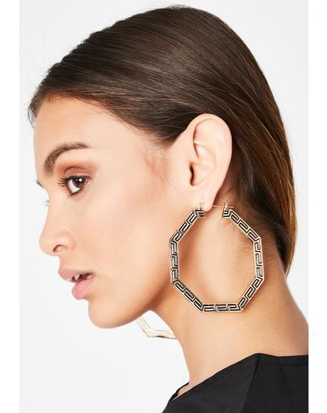 Beauty In Ruins Hoop Earrings