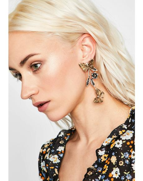 Feels Like Butterflies Drop Earrings