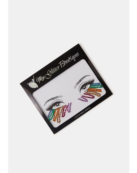 Rainbow Rhinestone Under Eye Gem Pack