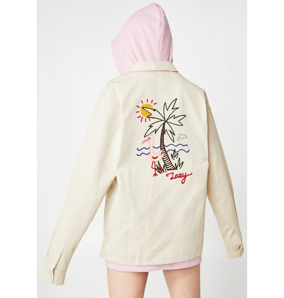 Lazy Oaf Lazy Holidays Zip Up Shirt