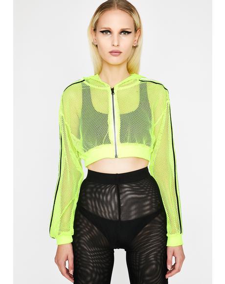 Reflective Flexx Crop Jacket