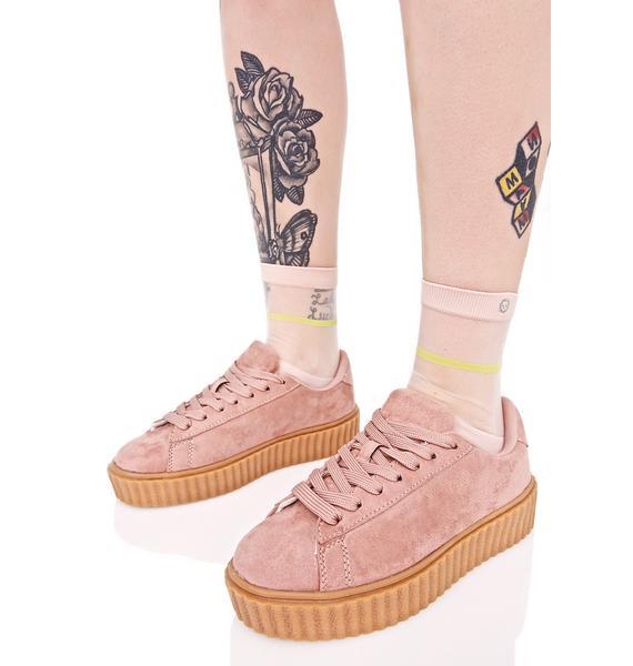 Rose Caught Me Creeper Sneakers