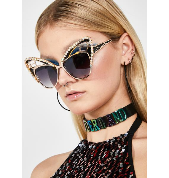 Rad and Refined Blingin' Butterfly Sunnies