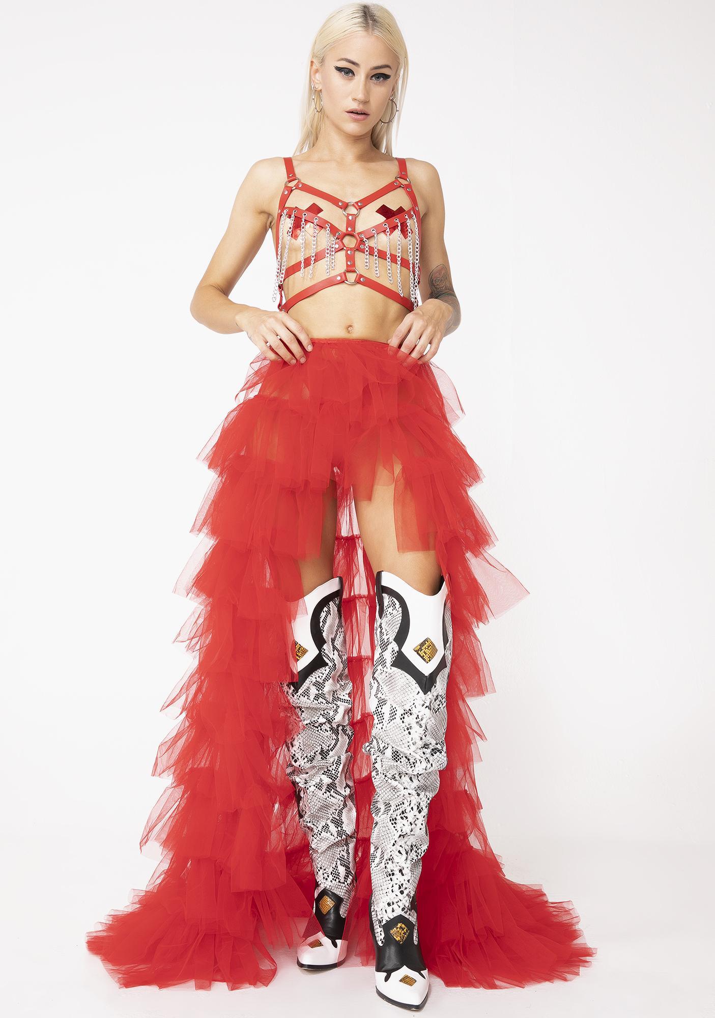 Kiki Riki Lit Royal Bow Tutu Maxi Skirt