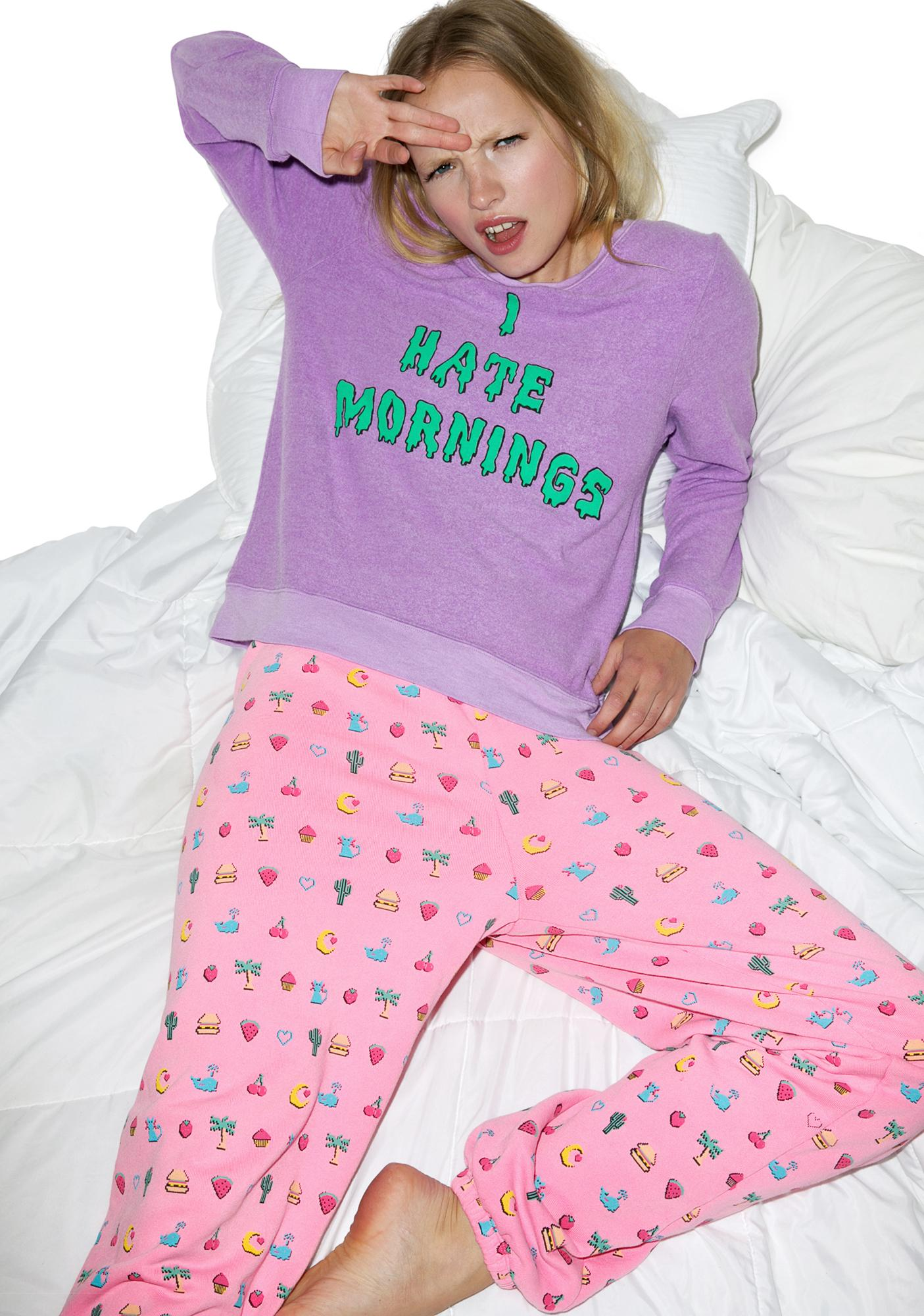 Wildfox Couture I Hate Mornings Baggy Beach Jumper