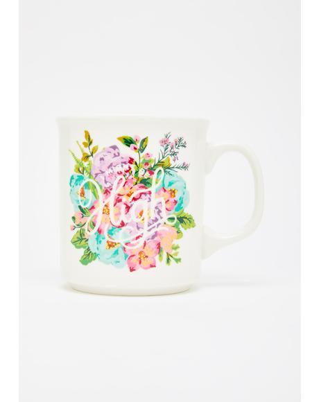 High Glam Floral Mug