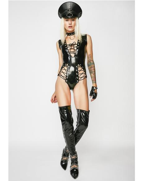 Dark Imagination Lace-Up Bodysuit