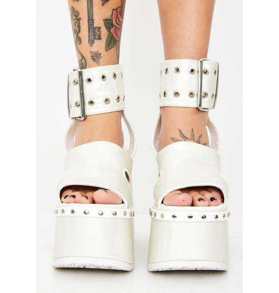 Demonia Pearl Soul Crushin' Platform Heels