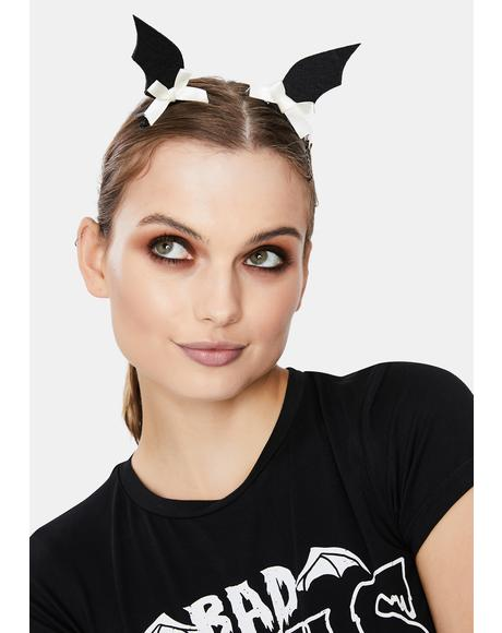 Cute But Batty Hair Clips
