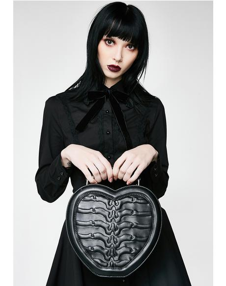Black Heartz Handbag