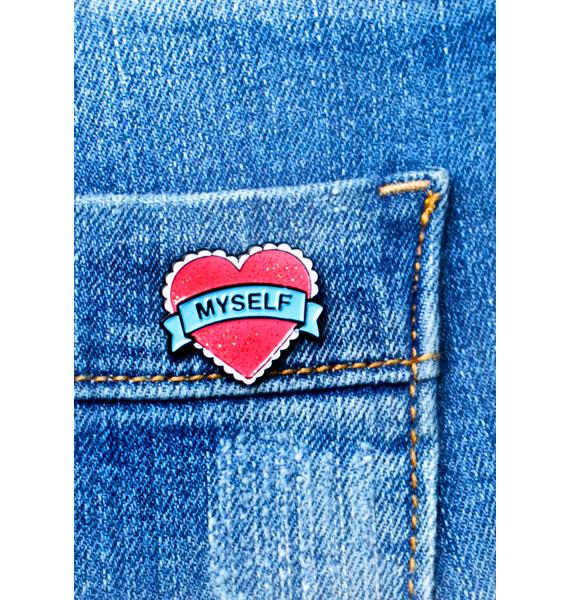 Local Heroes Heart Myself Enamel Pin