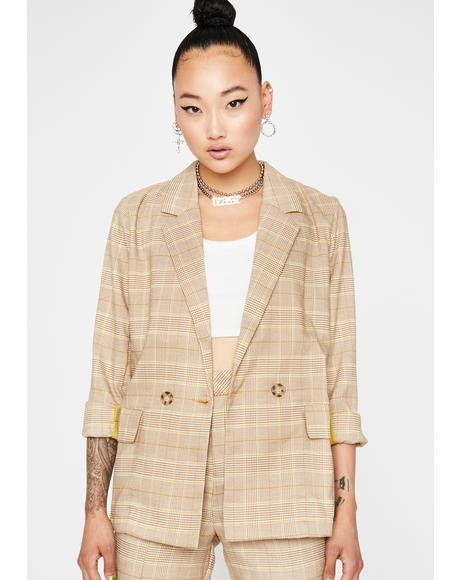 Lawful Bad Plaid Blazer