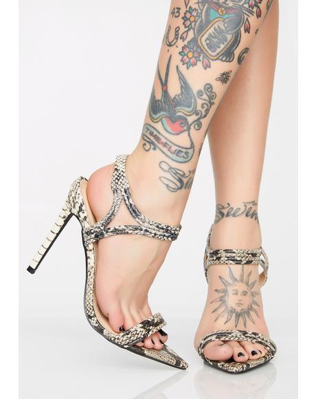 Call Me Wifey Snakeskin Heels