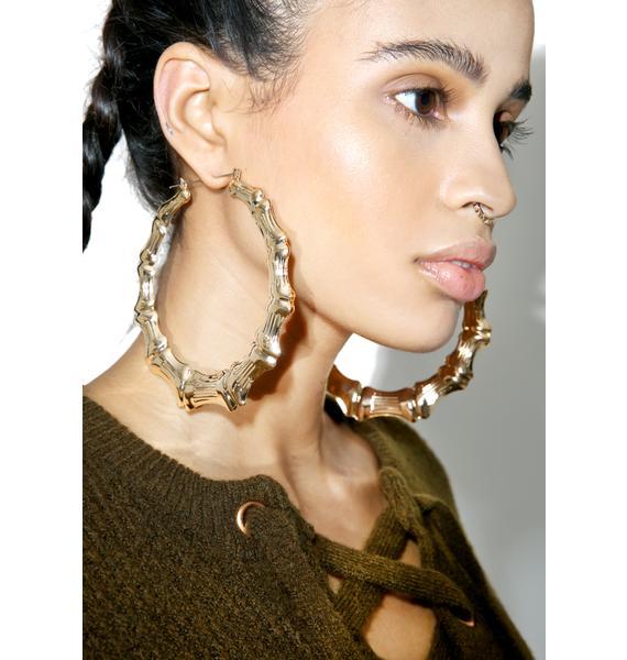 Around Da Way Hoop Earrings