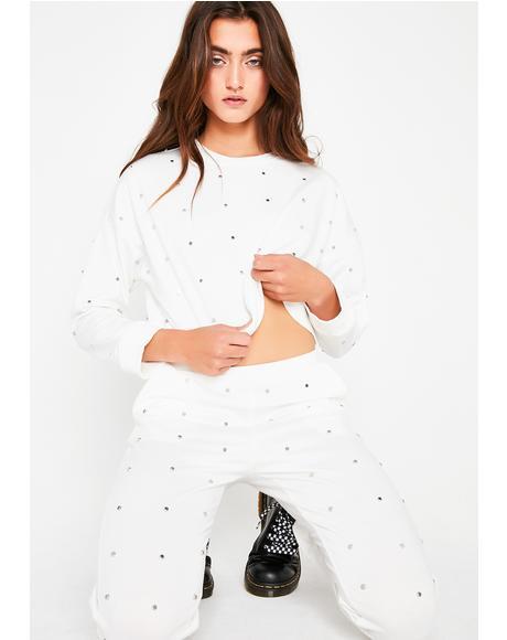 Dainty Details Studded Sweatshirt