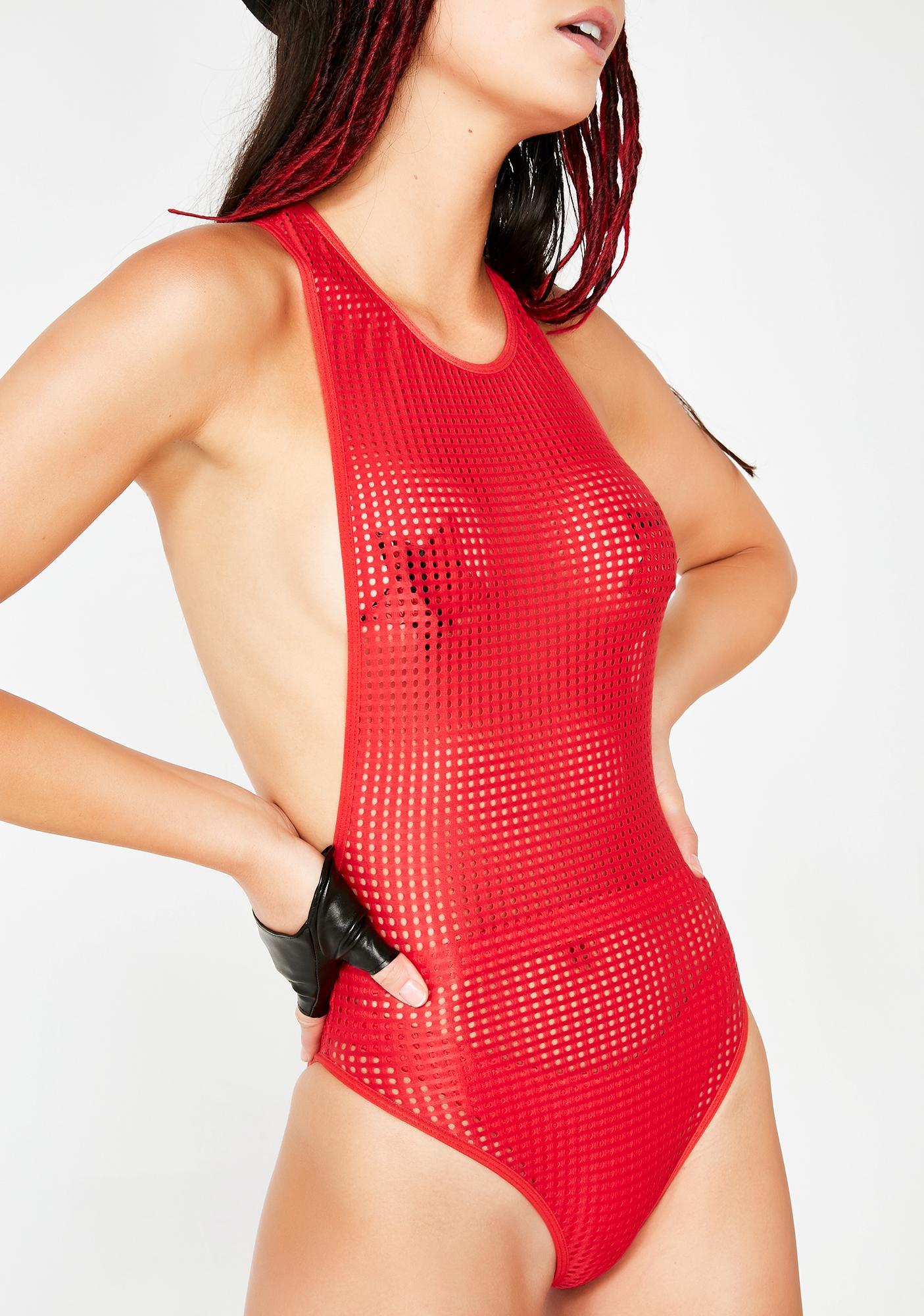 Club Exx Feisty Aphrodite Mesh Bodysuit