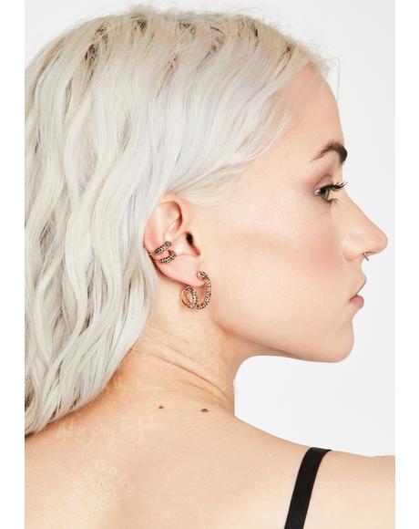 Gold Venom Snake Ear Cuff