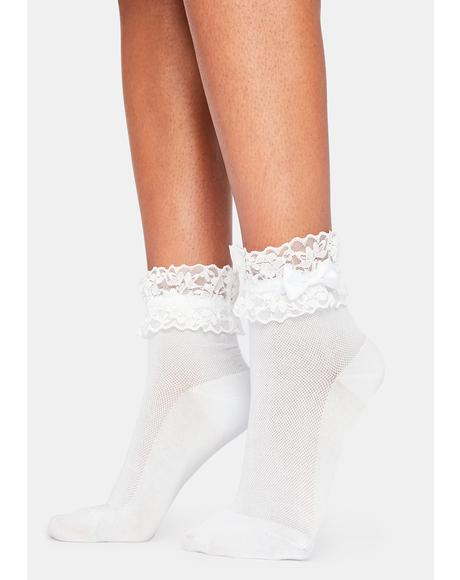 Powder Pretty Promiscuous Ruffle Socks
