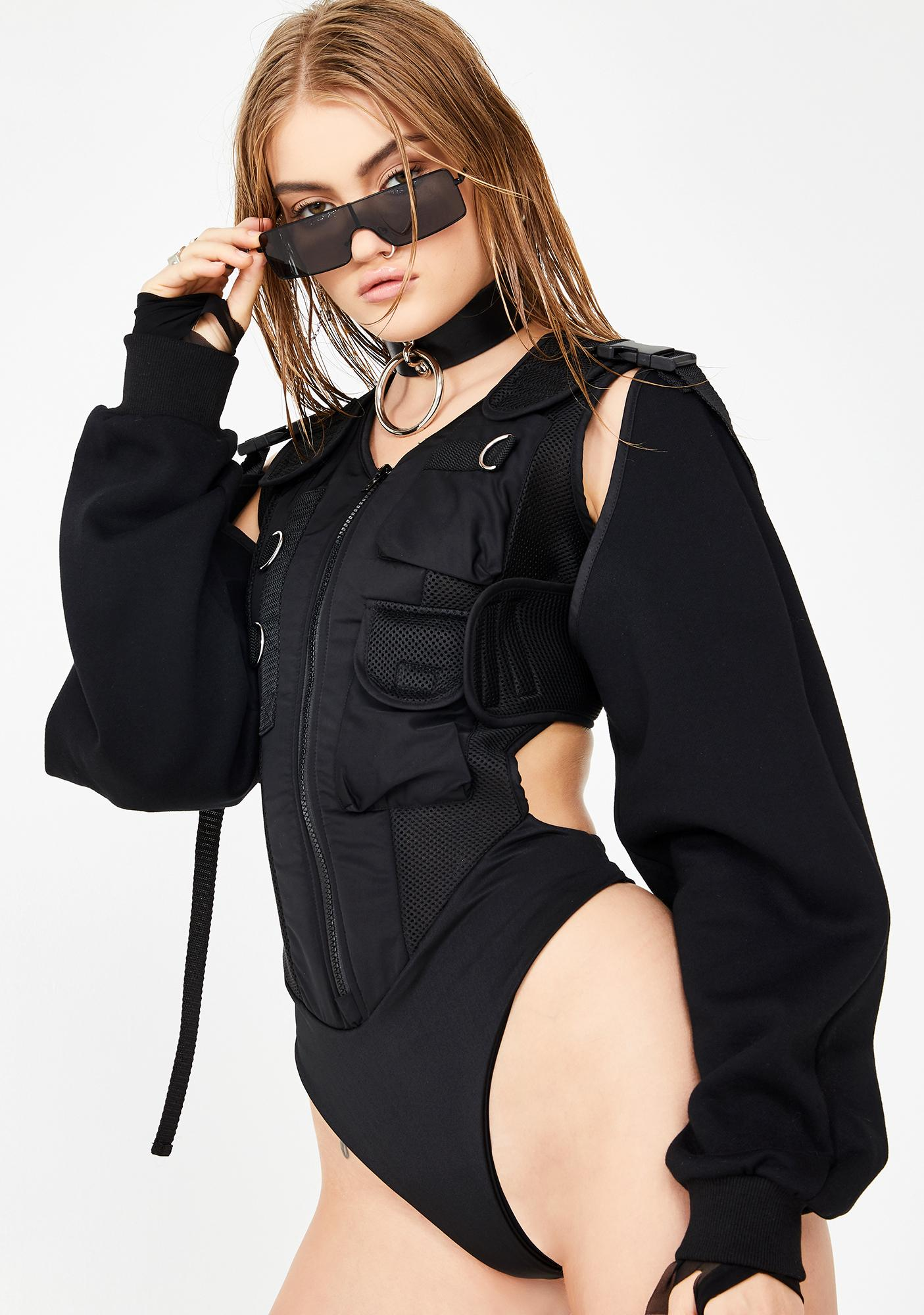 Namilia Tactical Bodysuit With Detachable Sleeves