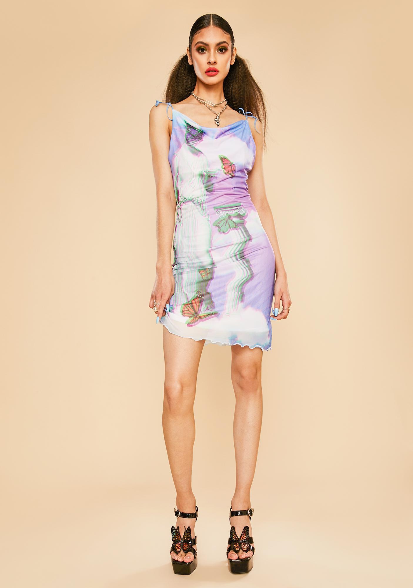 Current Mood Virtual Heaven Mesh Midi Dress