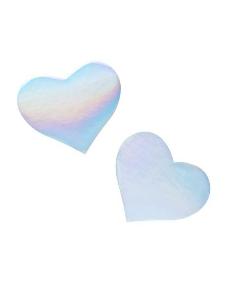 Electrik Heart Holographic Pasties