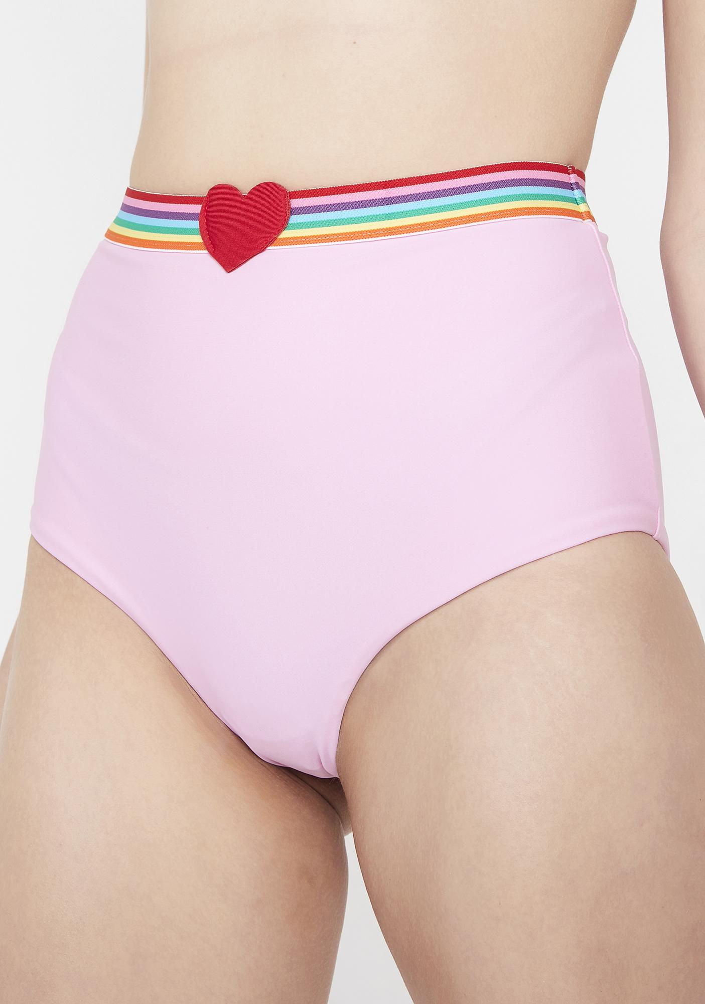 Lazy Oaf Rainbow Love Bikini Bottoms