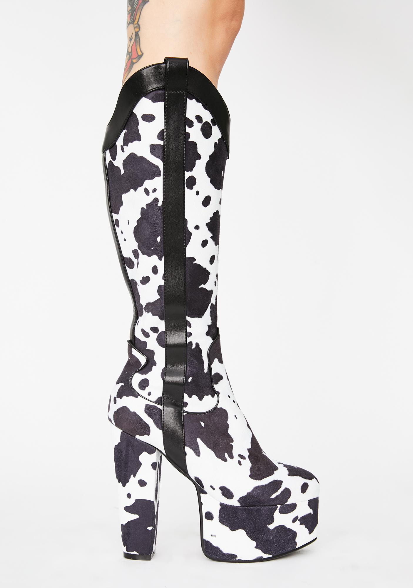 Lamoda Cowgirl Platform Boots