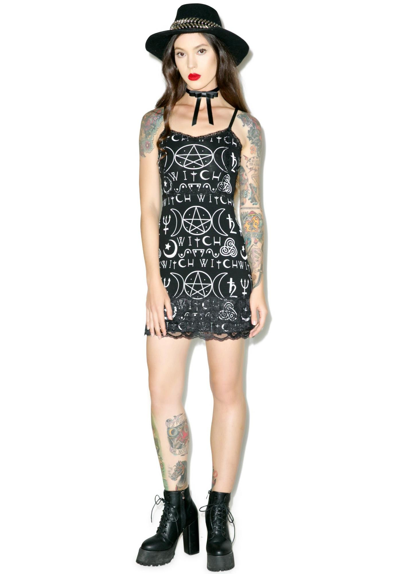 What A Witch Slip Dress