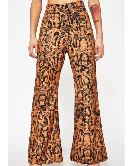 Slitherin' Behavior Flare Pants