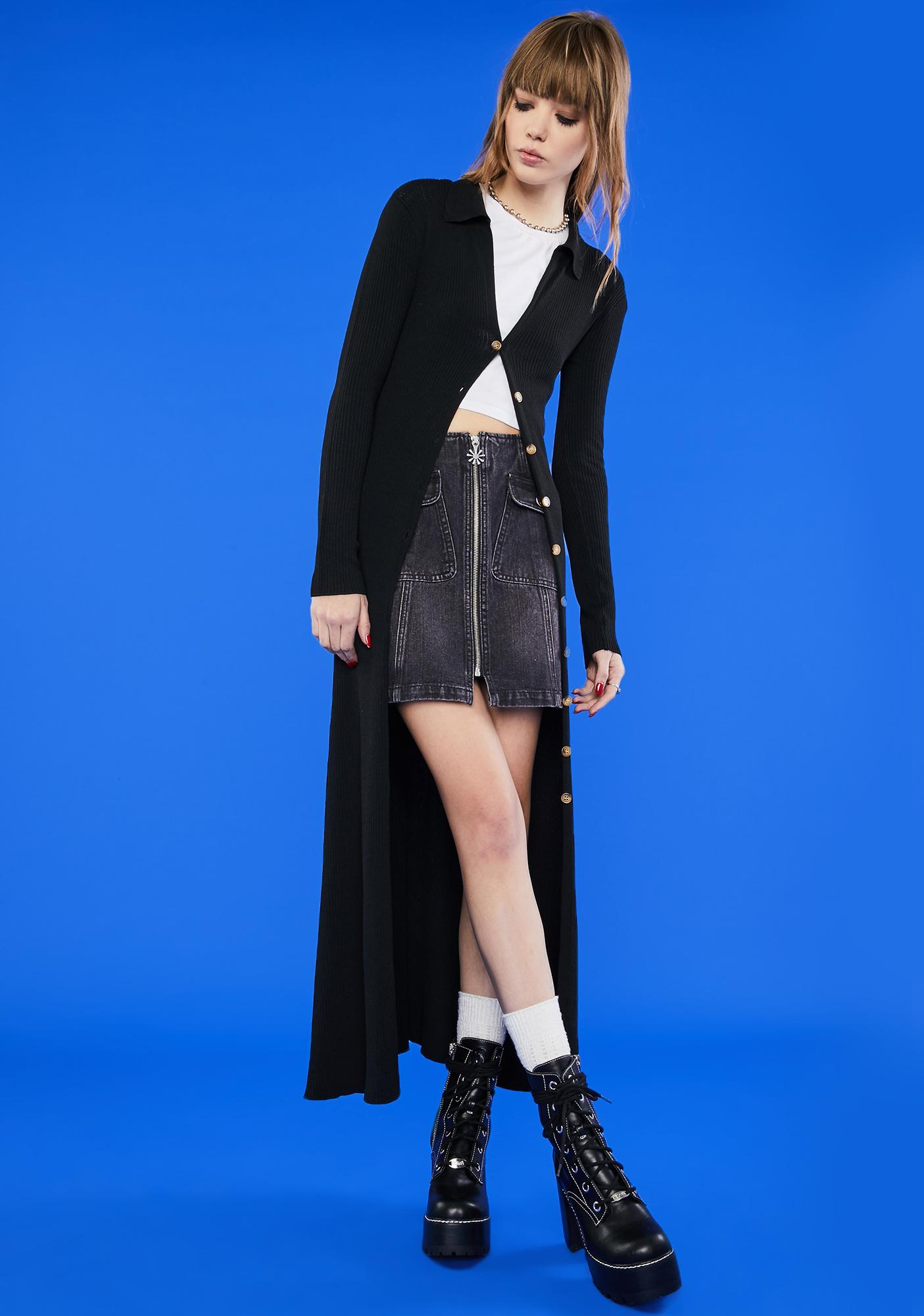 dELiA*s by Dolls Kill After The Beep Longline Cardigan