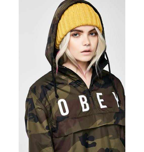 Obey Anyway Anorak Coach Jacket