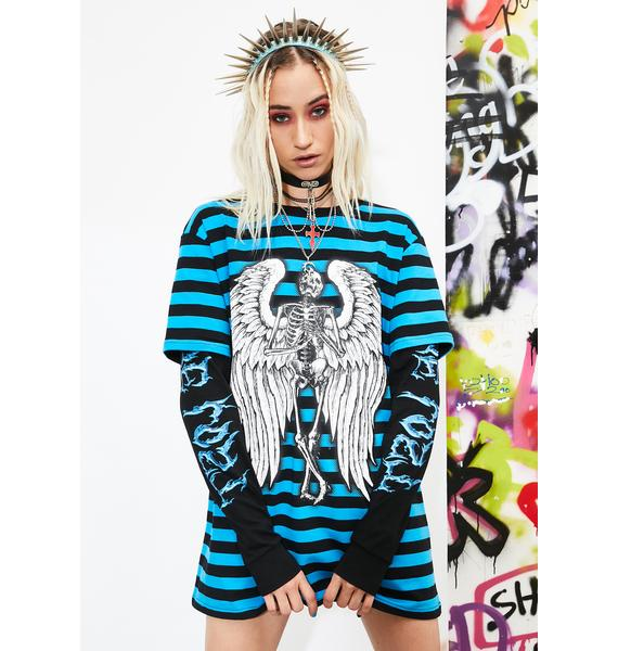 Current Mood Doomed For Life Layered Graphic Tee