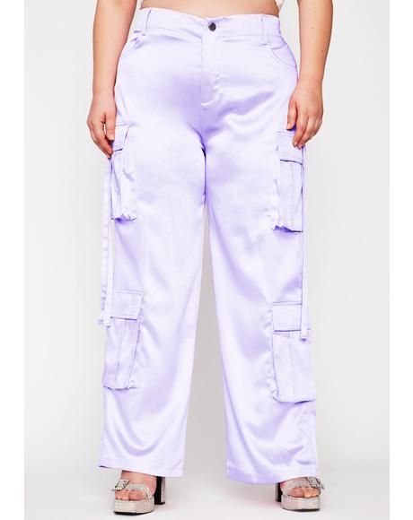 Lavender Totally Candy Crushed Cargo Pants