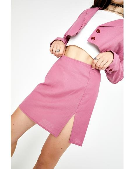 Cassis Sheny Mini Skirt