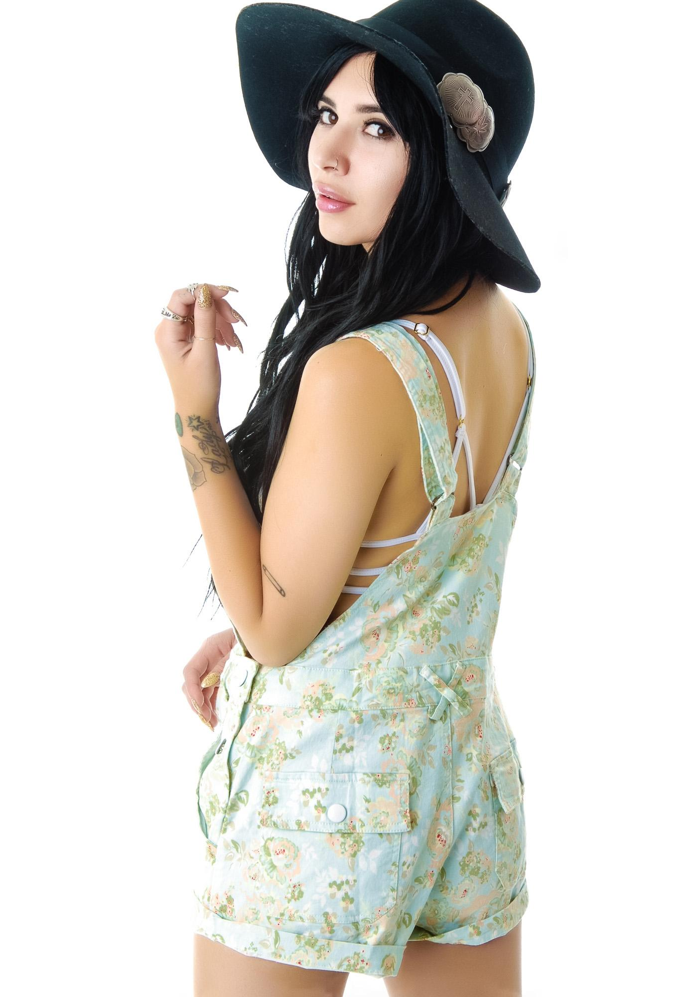 Wild Flower Print Overall