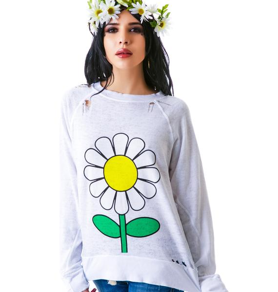 Wildfox Couture Oh Daisy Destroyed Sweater
