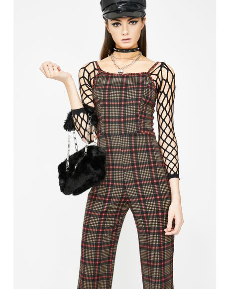 Slay Culture Plaid Jumpsuit